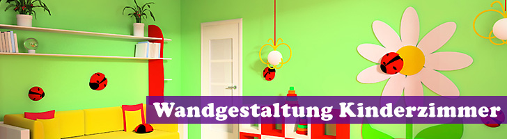 wandgestaltung im kinderzimmer farben schablonen und mehr. Black Bedroom Furniture Sets. Home Design Ideas